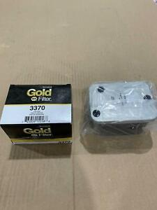 3370 Gold Glass Body Fuel Filter Water Separator 33370 86370 Bf909 Free Shipping