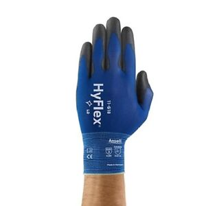 3 Pair Ansell Hyflex 11 618 Polyurethane Coated Precision Glove Size 9