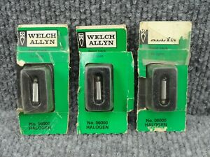 3 Unused Welch Allyn No 06000 Bulbs For 60800 60803 60804 60820 Instruments