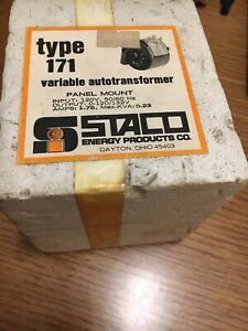 New Staco Panel Mount Type 171 Variable Autotransformer 120v 50 60 Hz 1 75a