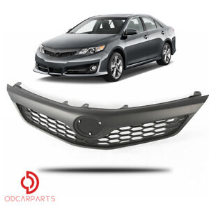Fits Toyota Camry 2012 2013 2014 Se Xse Front Upper Grille Grill Matte Black