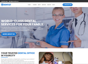Dentist Business Website wordpress Free Installation To Your Hosting