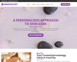 Dermatology Business Website wordpress Free Installation To Your Hosting