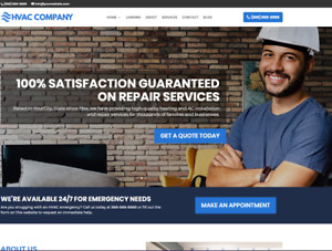 Hvac Business Website wordpress Free Installation To Your Hosting