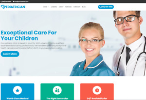 Pediatrician Business Website wordpress Free Installation To Your Hosting