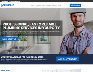 Plumbing Business Website wordpress Free Installation To Your Hosting