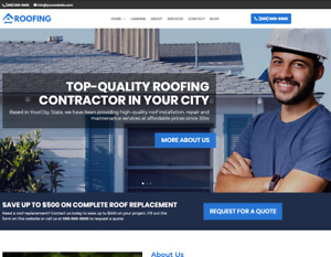 Roofing Business Website wordpress Free Installation To Your Hosting