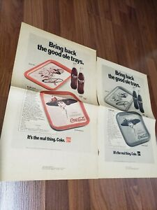 9 ultra rare Coca Cola ADVERTISING pages. These are