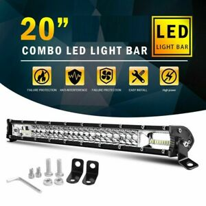 20 Inch Cree Led Work Light Bar 1620w Flood Spot Combo Offroad Driving Lamp 20