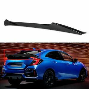 For 2017 2020 Honda Civic 10th 5d Hatchback Glossy Black Trunk Spoiler Wing