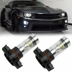 2x 6000k Super White 5202 H16 Led Fog Light Bulb For 2010 2013 Chevy Camaro 100w