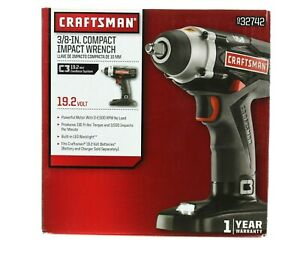Craftsman 3 8in Compact Impact Wrench 19 2v Cordless System 932742