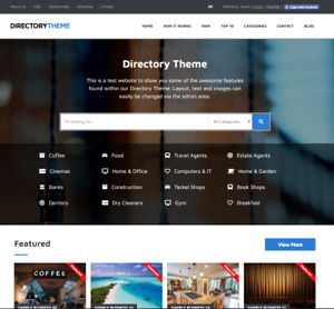 Directory Website wordpress Free Installation With Demo Content