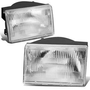 For 1993 1998 Jeep Grand Cherokee Oe Style Chrome Clear Headlights Left right
