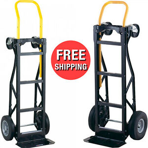 Heavy Duty Moving Dolly Convertible Hand Truck Stair Climbing Warehouse Easycart