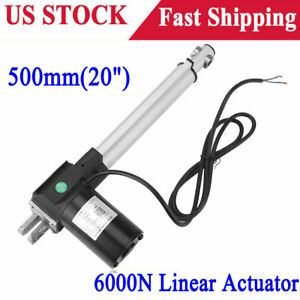 20 inch 6000n Electric Linear Actuator 1320lbs Max Lift Heavy Duty 12v Dc Motor
