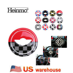 Car Steering Wheel Cover Sticker For Mini Cooper Jcw R55 R56 R57 R58 59 R60 R61