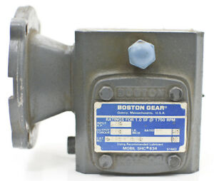 Boston Gear 700 Series 15 1 Ratio Right Angle Gear Reducer