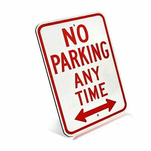 Reserved Private Property No Parking Anytime Aluminum Metal Sign With Arrow F