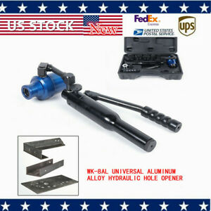 Wk 8al 360 Hydraulic Knockout Punch Driver Kit 6 Dies Hand Pump Hole Tool 70kn