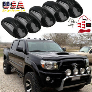 5x White Smoked Lens Led Lamp Rooftop Driving Light Kit For Toyota Tundra Tacoma