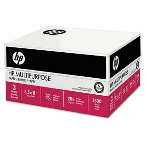 Hp Papers Multipurpose20 Paper 96 Bright 20lb 8 5 X 11 112530