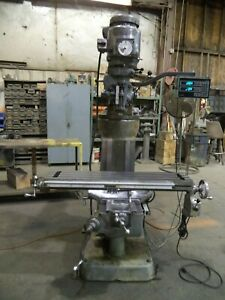 Bridgeport Series I Milling Machine 9x42 Two 2 Axes Dro Servo Power Feed