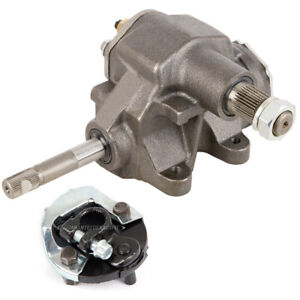 Borgeson Quick Ratio Manual Steering Gear Box W Coupler For Chevy Pontiac