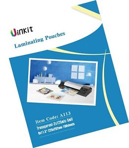 Hot Thermal Laminating Pouches 5mil 9x11 5 Inches For Sealed 8 5x11 Photo