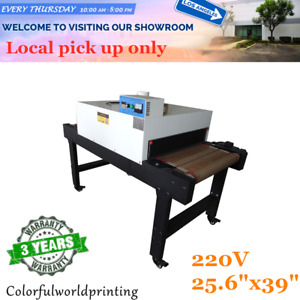 Ca Pick up 220v 25 6 x39 T shirt Conveyor Tunnel Dryer Belt For Screen Printing