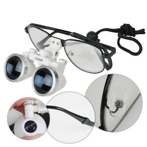 Adjustable Dental Surgical Medical Binocular Loupe 2 5x 420mm Ultra Light Weight
