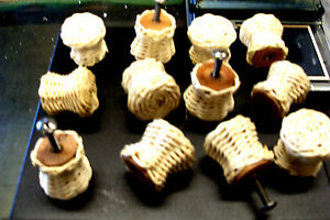 12 Unfinished Vintage Wicker Knobs Pull Cabinet Furniture With Hardware