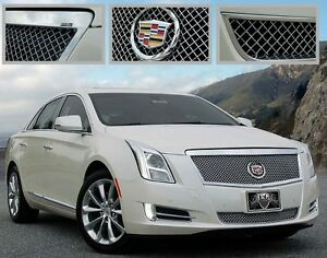 Cadillac Xts 2013 2014 2015 E G Heavy Mesh 2 Pc Grille Chrome Upper Lower