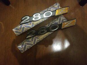 New Oem Datsun 280z Side Emblems 1975 To 1978 With Original Receipt Pair