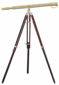 39 Inch Antique Floor Standing Telescope Marine Decor W Vintage Tripod Stand