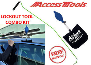 Quick Max Long Reach Unlock Lock Out Tool With Air Wedge Combo Kit New Free Ship