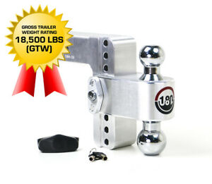 Weigh Safe 180 Hitch Ctb6 2 5 6 Drop Hitch 2 5 Receiver 18 500 Lbs Made In Usa
