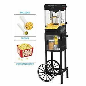 Vintage Look Popcorn Machine Cart Tall 48 Large 2 5 Oz Stainless Steel Kettle