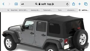 2012 Jeep Wrangler 4 Door Jk Soft Top Used Mopar W Tail Bar Bow All Hardware