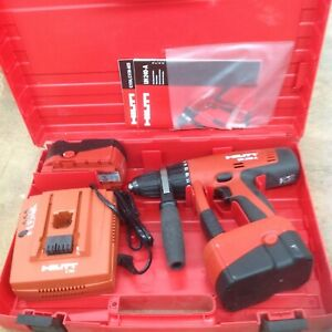 New Hilti Uh 240 a 1 2 Cordless Hammer Drill 24v Ni cd W 2 B 24 Batteries