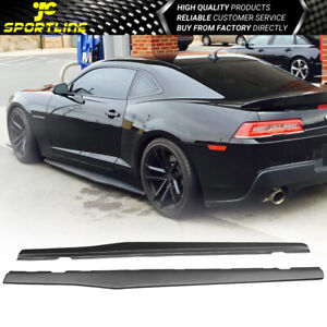 Fits 10 15 Chevy Camaro Ikon Style Side Skirts Extention Pair Pp