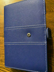 Labons Filofax 6 Ring Binder Blue Cover Life Planner Blank Calander Pages