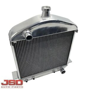 For 1917 27 Ford T Bucket Model T Model Tt Full Aluminum 2 Row Racing Radiator