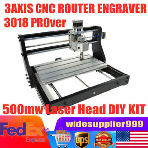 Mini Cnc 3018 Pro Desktop Engraving Machine Diy 2in1 Milling Woodworking Router