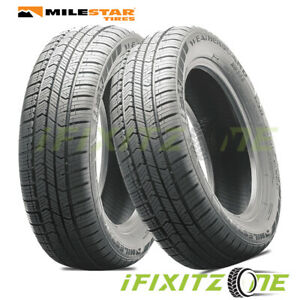 2 Milestar Weatherguard Aw365 All Season 225 50r17 98h 3pmsf Snow Rated Tires