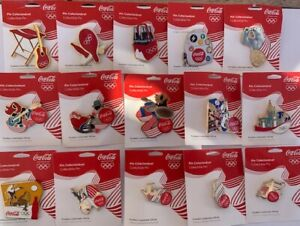 Coca Cola PIN RIO 2016 BRAZIL OLYMPIC GAMES OFFICIAL 15 PINS LIMITED