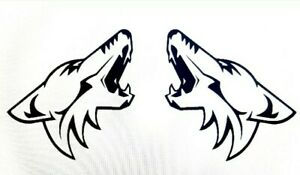 Ford Mustang Coyote Howling Decal Stickers X2 4x5