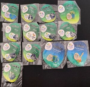 Coca Cola PIN RIO 2016 OLYMPIC GAMES OFFICIAL SPORTS 10 PINS LIMITED BRAZIL