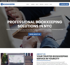 Bookkeeper Business Website wordpress Free Installation To Your Hosting