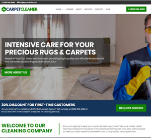 Carpet Cleaner Business Website wordpress Free Installation To Your Hosting